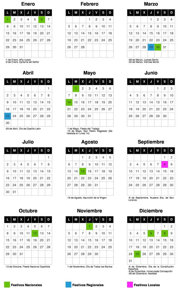 Calendario Laboral Valladolid.La Cisterniga Digital Calendario La Cisterniga 2018 Escolar