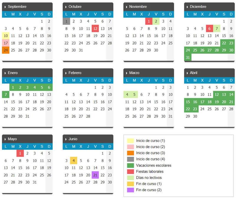 Calendario Laboral 2019 Valladolid Pdf.La Cisterniga Digital Calendario La Cisterniga 2019 Escolar